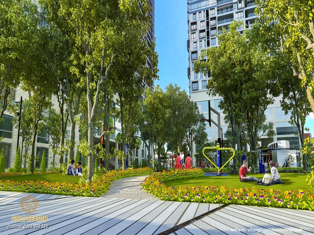 Công viên xanh ngay tại dự án Imperia Sky Garden Minh Khai
