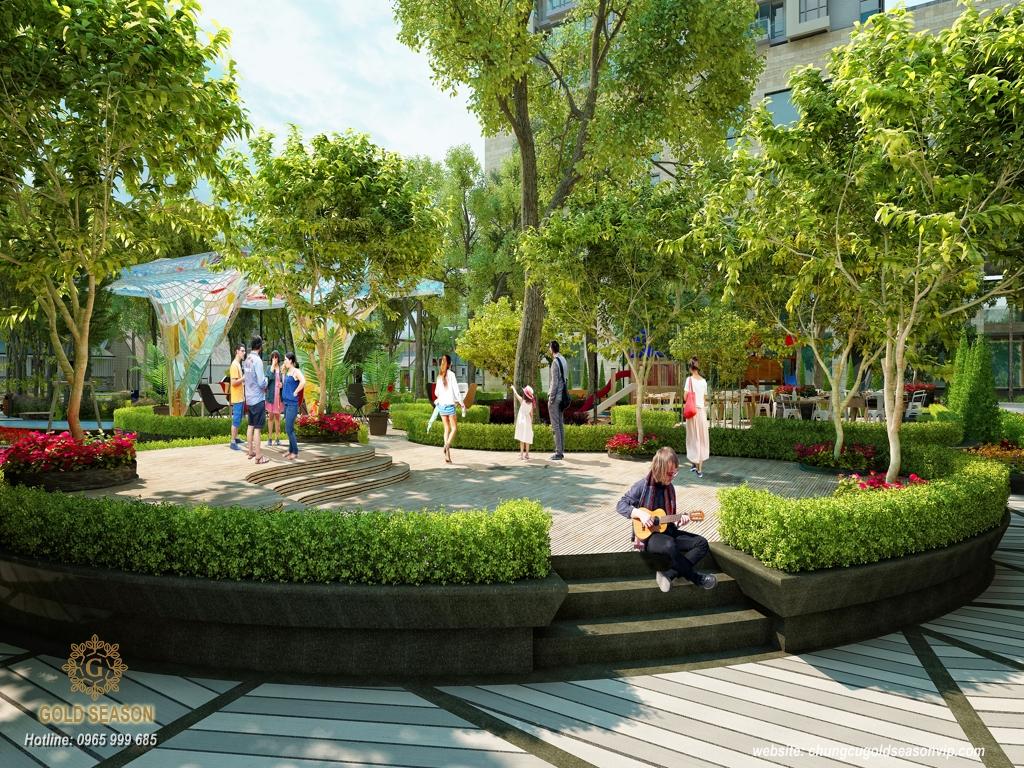 Công viên xanh trong chung cư Imperia Sky Garden