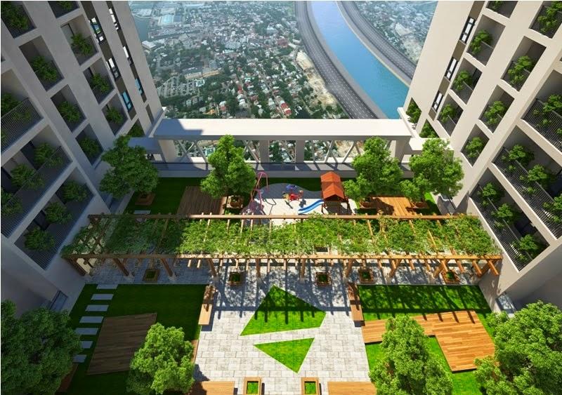 Không gian xanh chung cư 423 Minh Khai