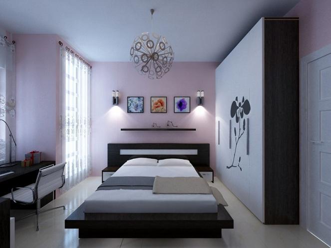Đèn chiếu sáng phòng ngủ căn hộ Imperia Sky Garden