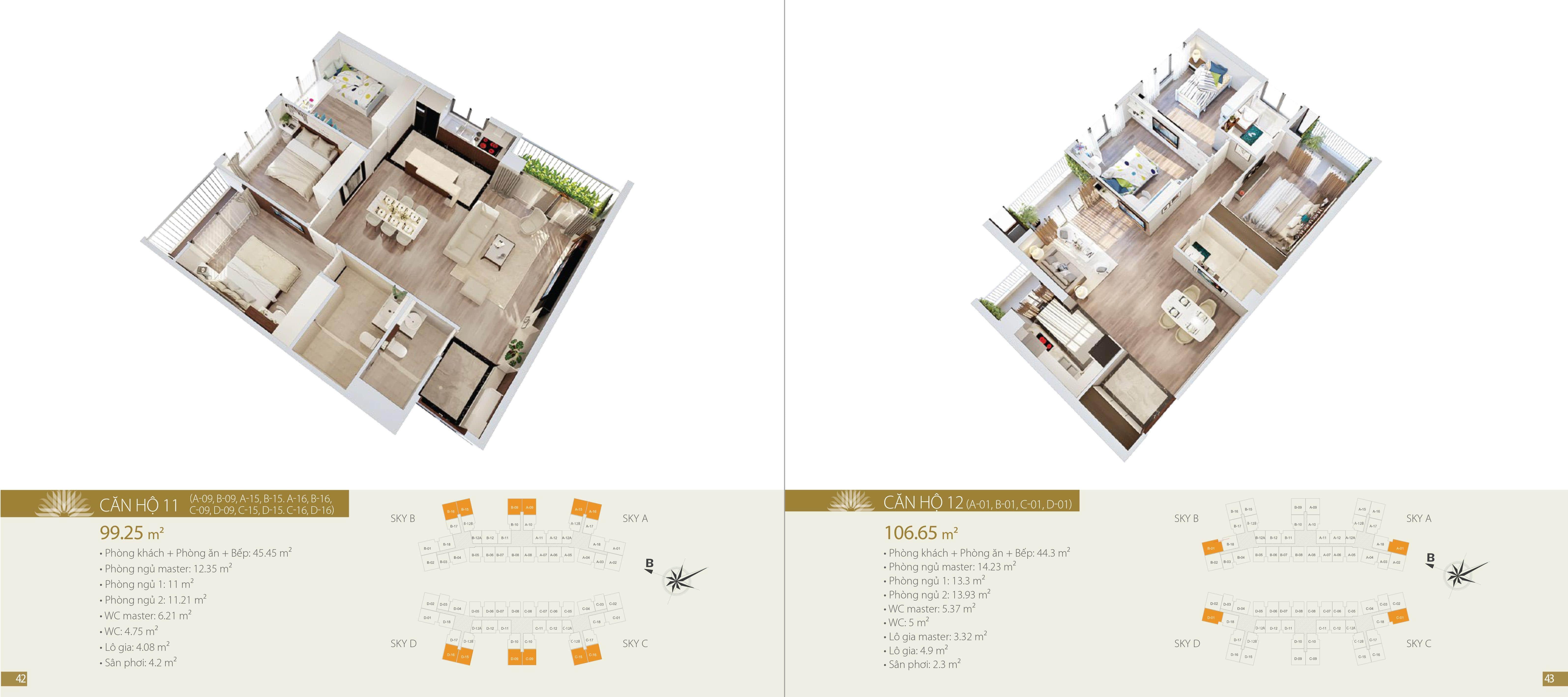 thiết kế căn hộ mẫu Chung cư Imperia Sky Garden