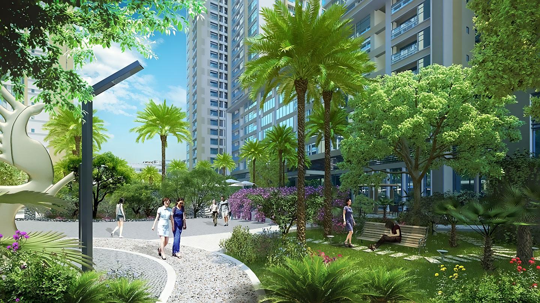 Kết quả hình ảnh cho không gian xanh tại imperia sky garden